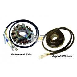 Stator avec éclairage ST5525L pour Routière Aprilia modèle Tuareg 125